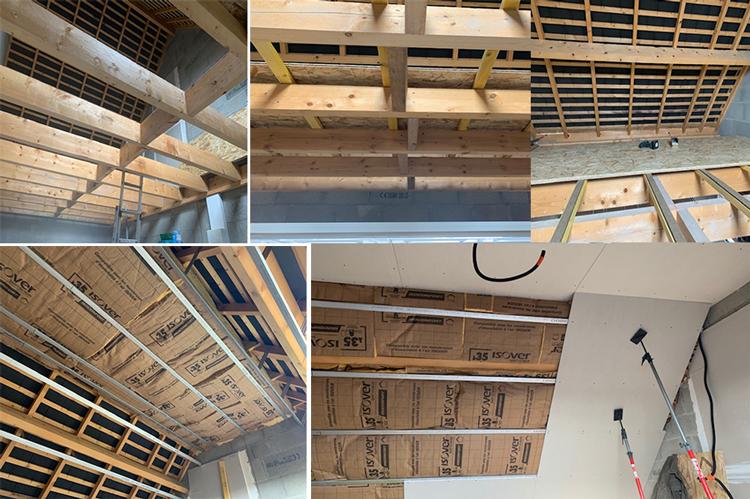 Isolation et création chambre au dessus d'un garage