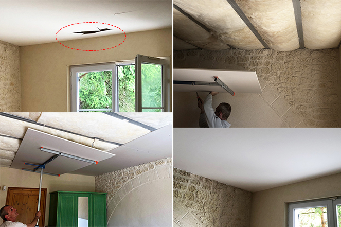 Réfection Plafond par artisan plaquiste